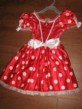 Euc Disney Store Minnie Mouse Red Polka Dot Halloween Costume Sz S 5/6 - $29.99