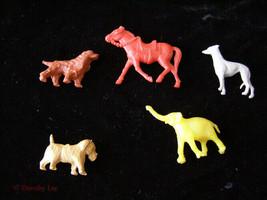 Play Set Animal Figures Lot Vintage Dogs Horse Elephant + - $16.99