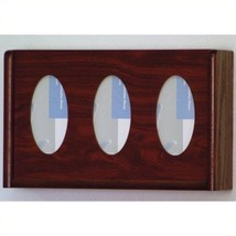 Wooden Mallet 3 Pocket Glove and Tissue Box Holder in Mahogany Restroom ... - $48.93