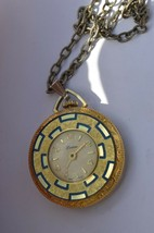 Vintage  LUCERNE  Swiss Pendant watch, Pretty watch, runs but wont set time - $11.26