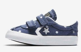 Converse Kids Shoes Breakpoint Blue Denim Sneakers Polka Dot Toddler 760... - $22.50
