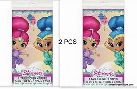 Shimmer and Shine Party Favors Party Birthday Tablecover Tablecloth Gennies 2PC - $14.80