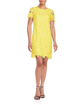 New Calvin Klein Women Crochet Lace Sheath Dress Canary Variety Sizes - $74.79