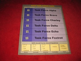 1988 The Hunt for Red October Board Game Piece: NATO Task Force Card  - $3.00