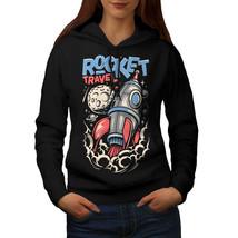 Rocket Travel Moon Space Sweatshirt Hoody  Women Hoodie - $21.99+