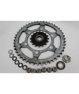 07-09 YAMAHA FZ6 FAZER OEM FRONT & REAR SPROCKET SET WITH HARDWARE 1,403 MILES - $21.78