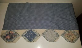 Vintage Cottage valance country blue100% Cotton Kitchen Valance home collection - $24.28