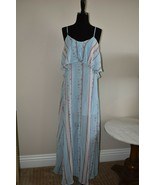 Lucca Couture Blue Boho Summer Maxi Dress Size Extra Small XS - $17.95