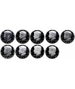 1970-1979 S Complete Set Kennedy Half Dollars Gem Proof Run 9 Coins US Mint - $744,03 MXN