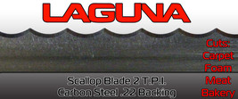 "Scallop Bandsaw Blade 5/8"" X 2 TPI X 137"" Wavy Blade Cuts Carpet Meat Foam - $27.40"