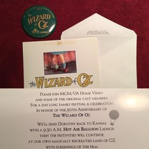 THE WIZARD OF OZ Official 50th Anniversary MUNCHKIN SIGNED Unique with E... - $1,225.00