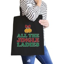 All The Jingle Ladies Black Canvas Bags - $14.99
