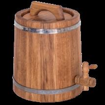 Wooden Oak Barrel Conical for wine, brandy and beer, Bonpos 5 L - $102.49