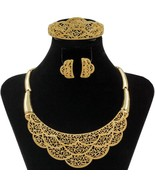 2019 African Gold Big Necklace Dubai Crystal Costume Jewelry Accessories... - $42.98