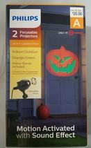 Philips 2 Ct Halloween Led Focusable Projectors Motion Jack O Lantern Pu... - $19.80