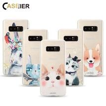 CASEIER® Cute Cat Dog Phone Case Samsung Galaxy S6 S7 Edge S8 S8 Plus No... - $4.44+