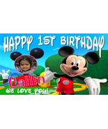 Mickey Mouse Club House Custom Birthday Banner Party Decoration w/ Photo - $39.95