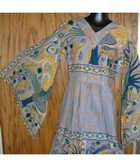 Vintage VIKINGA'S Mexico Hippie Caftan Dashiki Maxi Dress - $129.99