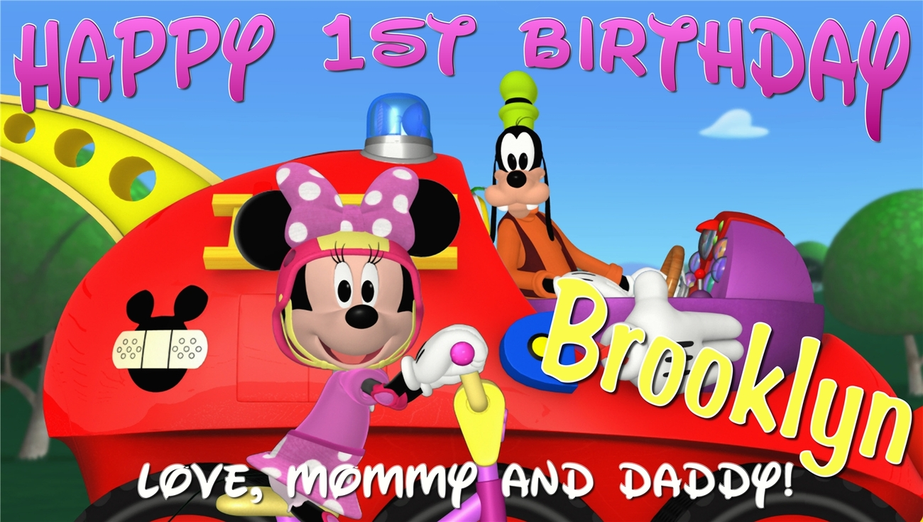 Minnie Mouse Custom Personalized Birthday Banner Party Decoration