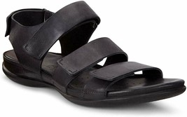 ECCO Women's Flash Flat Sandal Black Size 6-6.5 US 37 EUR - $70.08