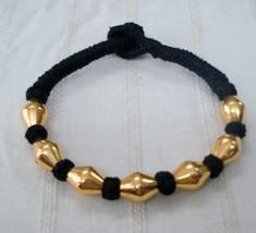 vintage 22k gold beads bracelet bangle cuff gold jewellery handmade - $197.01
