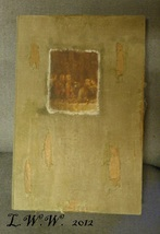 Large Faux Book Renaissance Supper Painting Distressed Antiqued Book Box  - $16.99