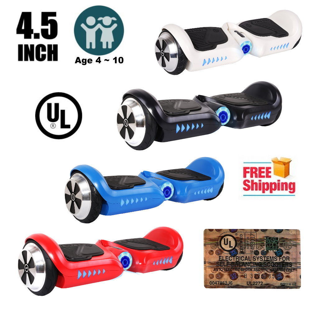 "4.5"" mini black hoverboard two wheel balance scooter UL2272 for children"
