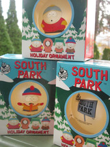 3 SOUTH PARK HOLIDAY ORNAMENTS COMEDY CENTRAL 1998 CARTMAN KENNY DEAD ST... - $14.24
