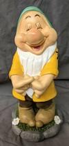 "Disney Dwarfs Collectible Bashful Garden Gnome Statue 7"" Tall New - $26.60"