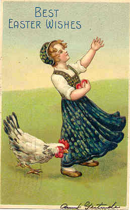 Best Easter Wishes 1906 Vintage Post Card