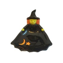 Porcelain Halloween Witch Small Ceramic Candy Dish - Made by FSG - $8.90