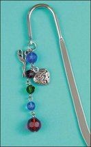 Jewel Tone Charmed Bookmark metal bookmark cross stitch reading gift acc... - $8.50
