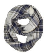 Modadorn Gradation Big Cable Knit Infinity Scarf (Super Soft Plaid Patte... - $12.86