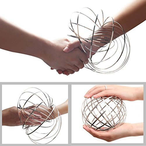 Acomon Flow Ring 2 Pack Magic Flow Ring Kinetic Spring Toy 3D Interactive Spinne