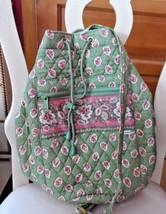 Vera Bradley old style tennis sling backpack in retired Green leaf pattern - $36.50