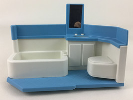 Little Tikes Blue Roof Dollhouse Bathroom Tub Sink Replacement Parts Vintage Toy - $20.45