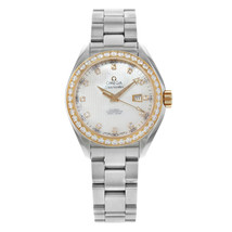 Omega Seamaster Diamond Steel Silver MOP Dial Ladies Watch 231.25.34.20.55.003 - $4,299.06