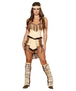 Women's Indian Cowboys Native American Pocahontas Costume Halloween - $75.00