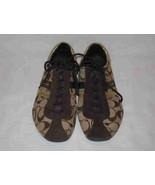 Wonderful Women's Size 7.5 COACH Logo Brown Tennis Shoes - $106.24