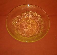 Vintage Pasari Glass Livia Bowls, Rose Pattern, Set of 2 - $13.95
