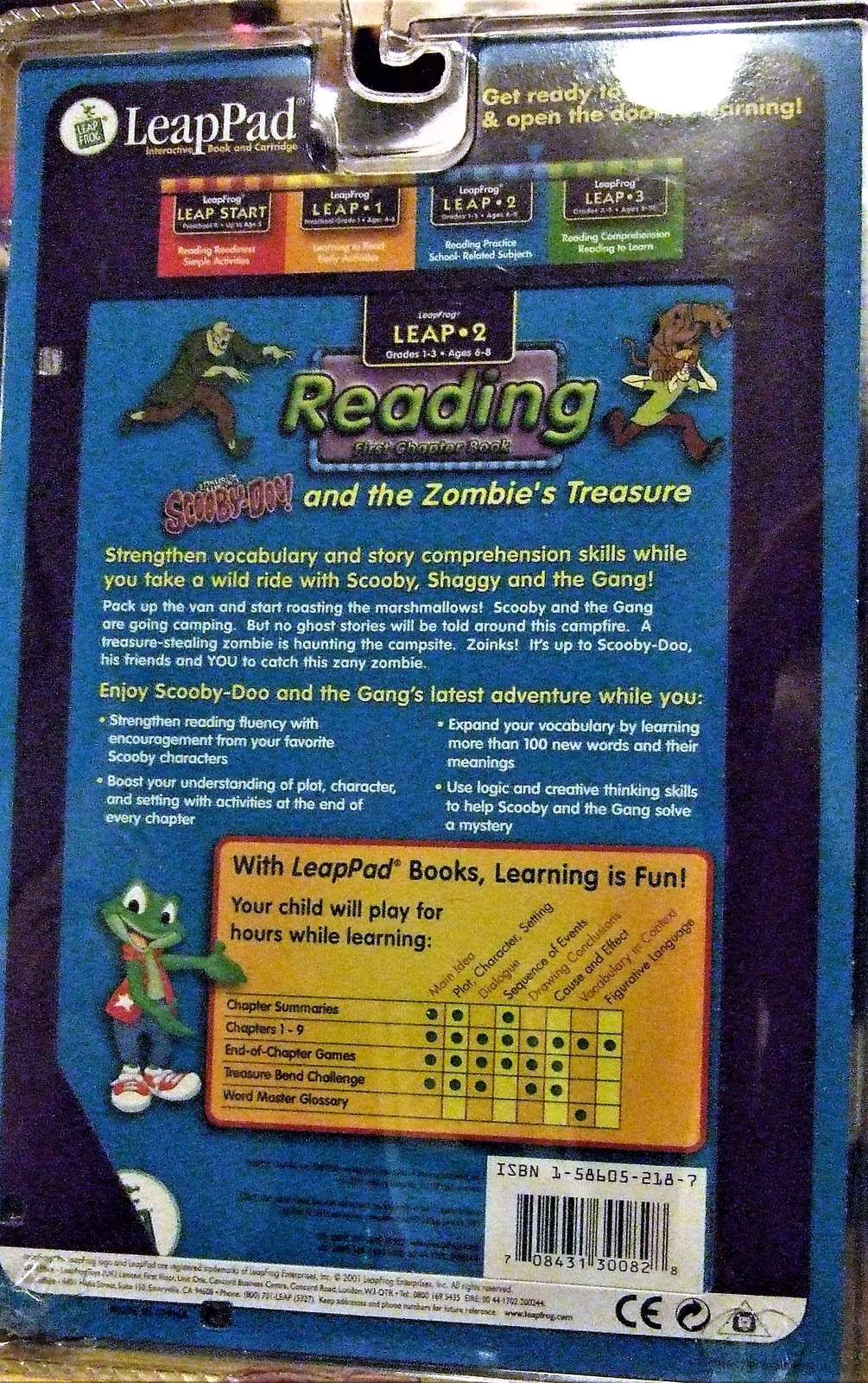 "LeapFrog Leap 2 ""Reading"" Scooby - Doo! and the Zombie's Treasure"