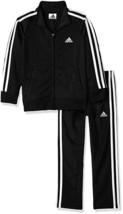 adidas Toddler Boys Tricot Jacket and Pant Set Tracksuit Black White 2T ... - $28.49