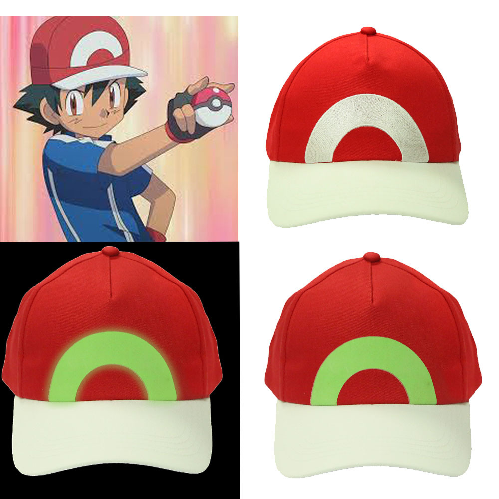 1a2be6f6860 Pokemon Ash Ketchum Hat Adjustable Baseball Cap New Version Cosplay  Accessories
