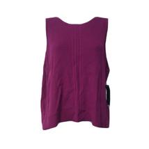 Rachel Roy Collection Krishna Back Vent Sleeveless Jasmine Pink Sweater ... - $39.59