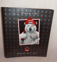 "Coca Cola Polar Bear Baseball 2"" Curve-back 3 Ring Binder 1997 - $14.99"