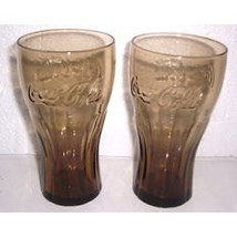 LIBBEY Coca-Cola McDonald (2) Brown Tall Collectible Tumbler Glass - $22.99