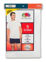 Big Men's Crew Neck White T-Shirts, Pack of 10, 2x 3x, Fruit of the Loom - $56.62
