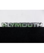 "1980's ""Plymouth"" Plastic Script Emblem OEM Rat Rod - $10.00"