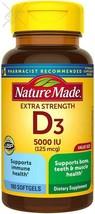 Nature Made Extra Strength Vitamin D3 5000 IU (125 mcg) Softgels, 180 Count  - $21.77