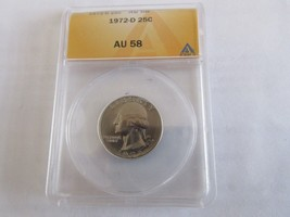 1972-D , Washington Quarter , ANACS , AU 58 - $12.00